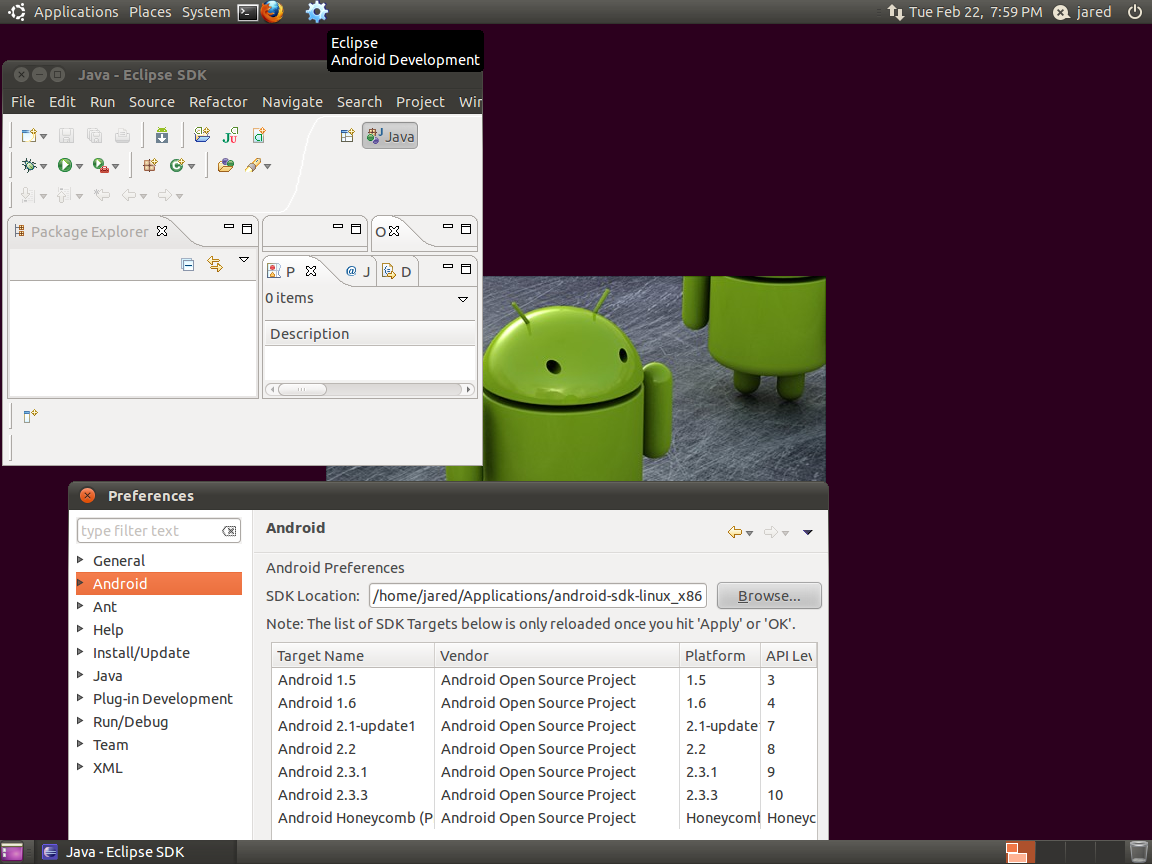 VMware Ubuntu virtual machine for Android development | Jared Evans